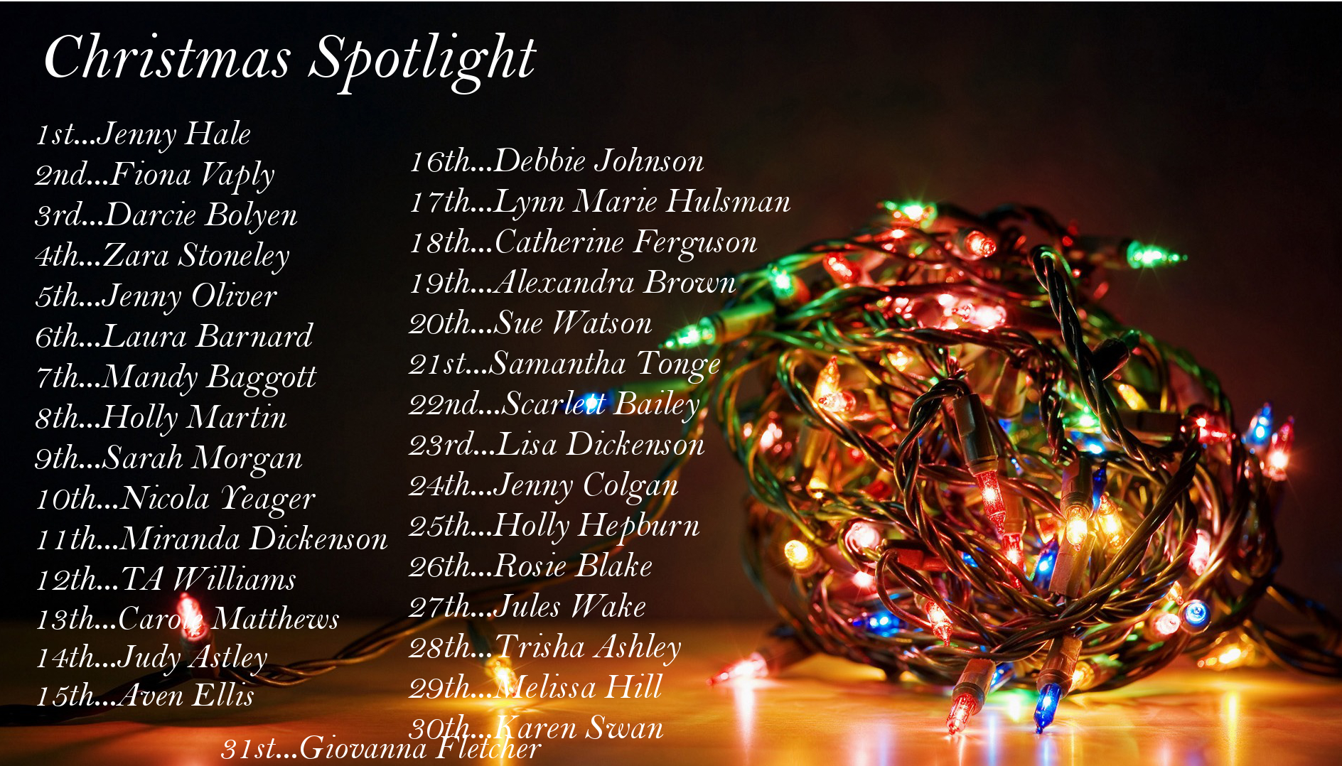Christmas Spotlight: Jules Wake