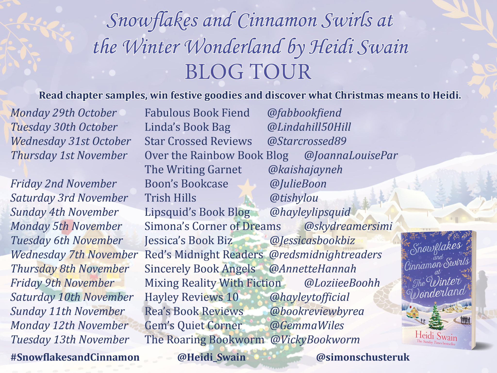 Blog Tour Review: Snowflakes and Cinnamon Swirls at the Winter Wonderland